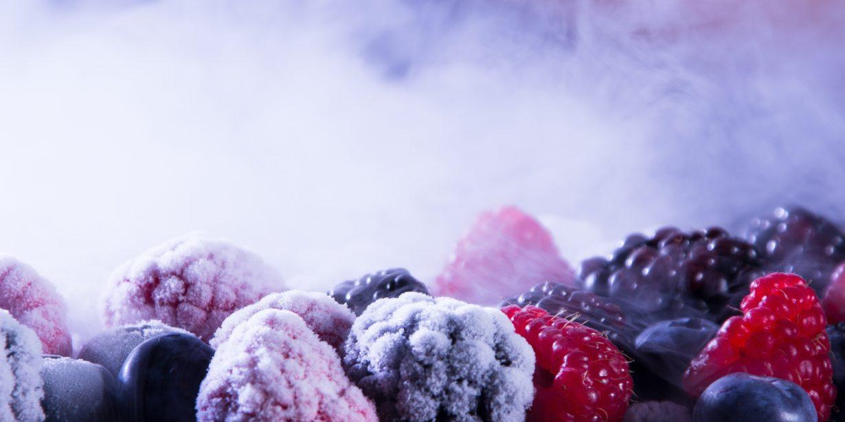 berries in freezer