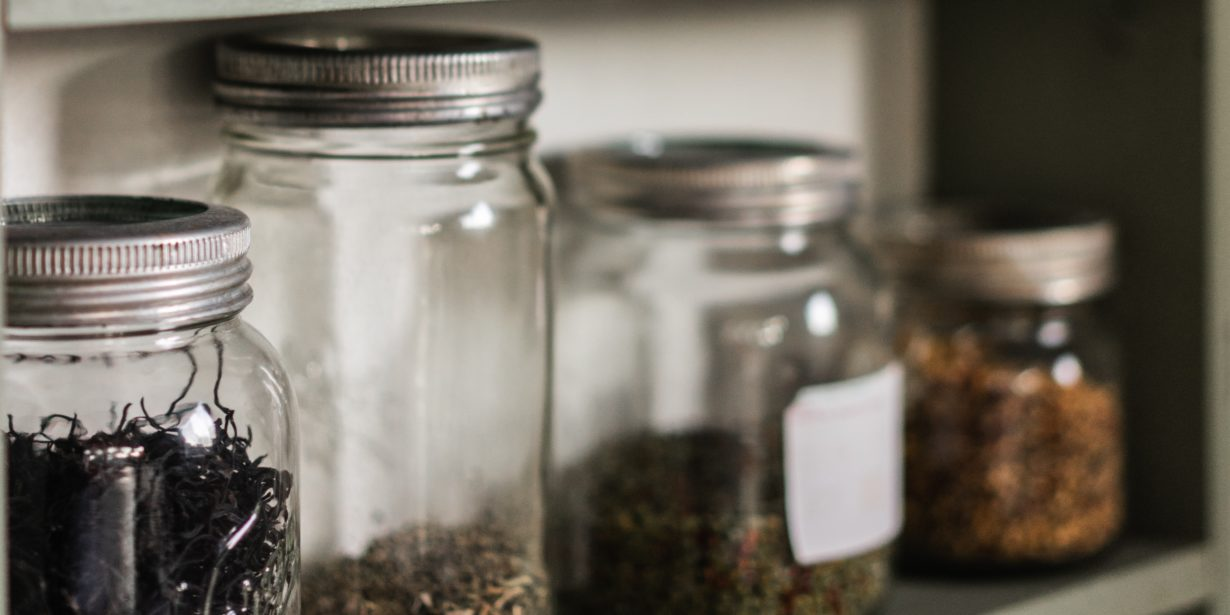 reduce plastic - glass pantry