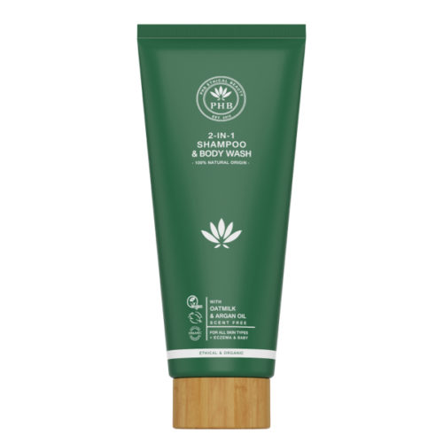 PHB Ethical Beauty 2-in-1 Shampoo & Body Wash with Oatmilk & Argan Oil
