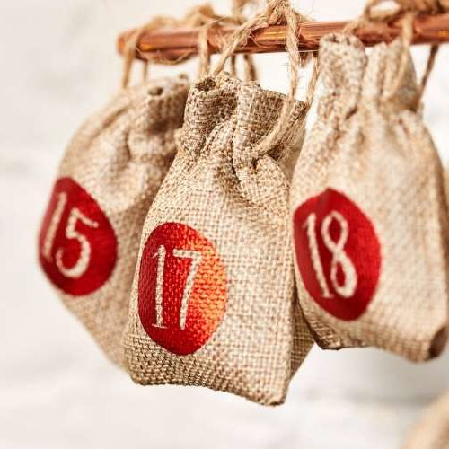 Advent Calendar Tree Hanging Sacks