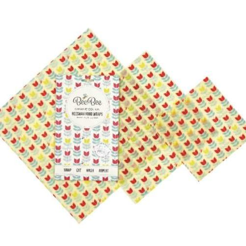 BeeBee Wraps Beeswax and Organic Cotton Food Wraps