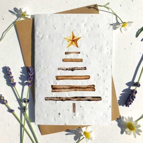 Biodegradable Seed Christmas Cards