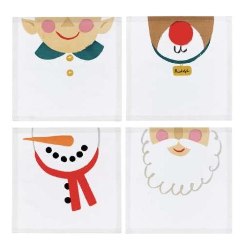 Christmas Character Fabric Napkins