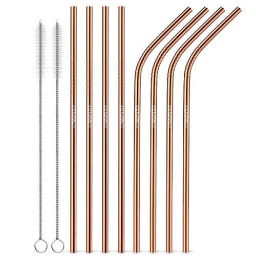 Natural Collection Reusable Metal Straws – Copper
