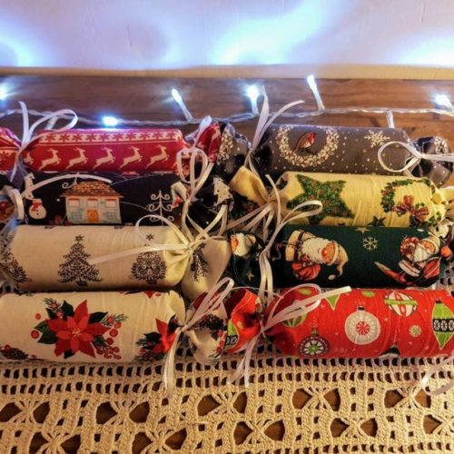 Fabric Christmas Crackers