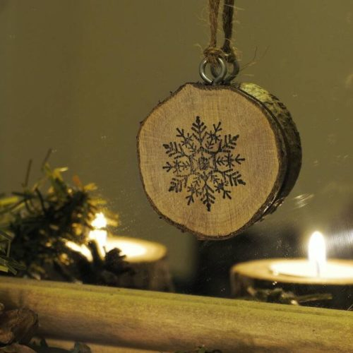 Rustic Mini Wooden Christmas Decorations