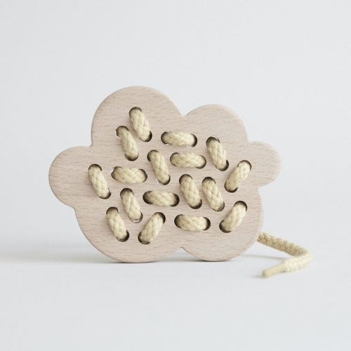 Wooden Cloud Lacing Toy