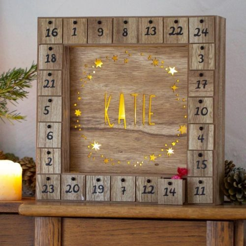 Personalised Wooden Advent Calendar