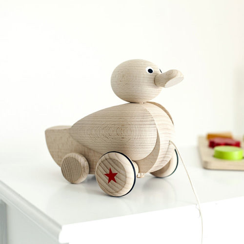 Personalised Wooden Quacking Duck