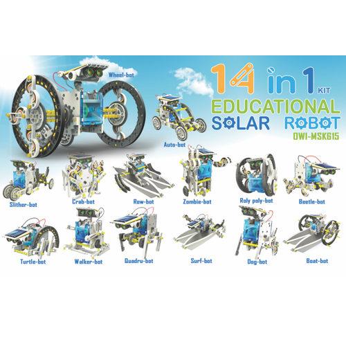 14-in-1 Solar Transforming Robot