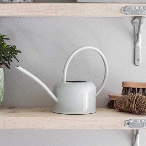 Chalk White Narrow Spout Watering Can