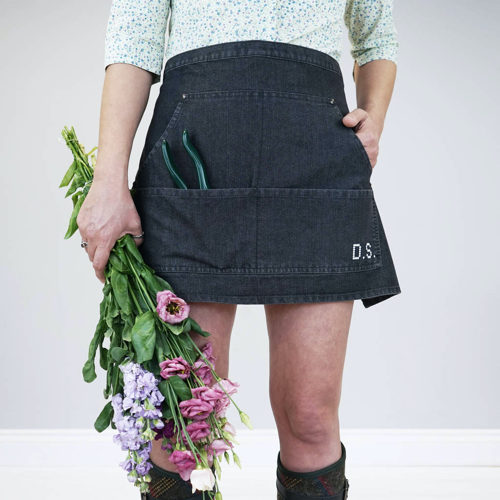 Cross Stitch Denim Gardening Apron