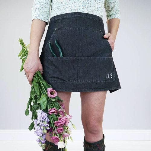 Cross Stitch Denim Gardening Apron