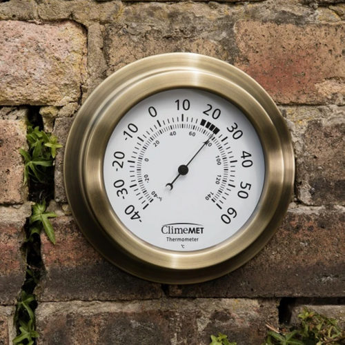 Customisable Metallic Garden Thermometer
