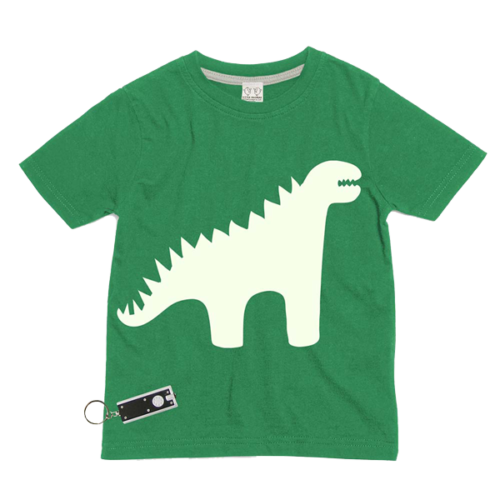 Dinosaur Glow In The Dark Interactive Kids T-Shirt
