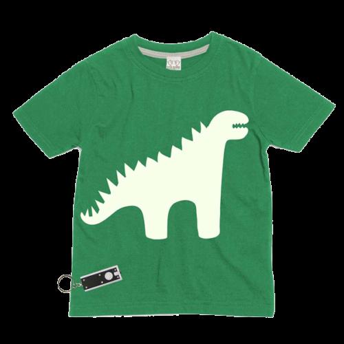 Dinosaur Glow In The Dark Interactive Kids T-Shirt