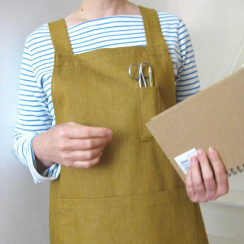 Golden Ochre Denim Cross Back Apron