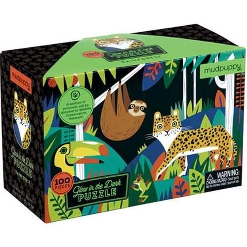 Mudpuppy Glow In The Dark Rainforest Jigsaw Puzzle