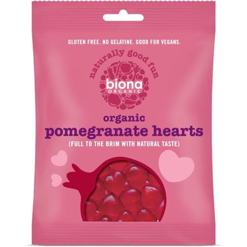 Biona Organic Pomegranate Heart Sweets