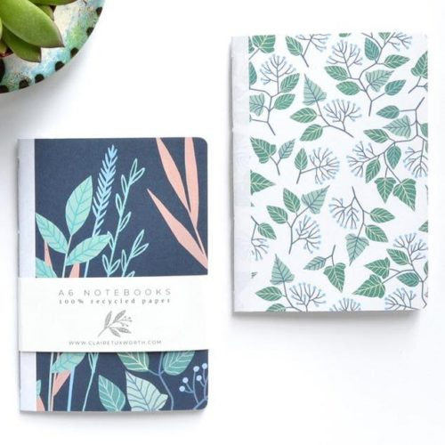 Claire Illustration's Eco Friendly A6 Pocket Notebook