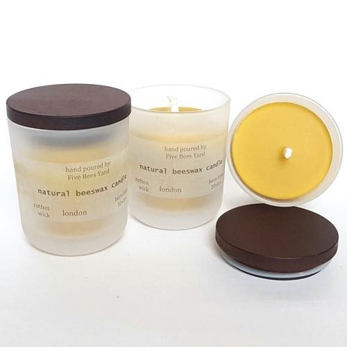 Five Bees Yard's Natural Beeswax Candles