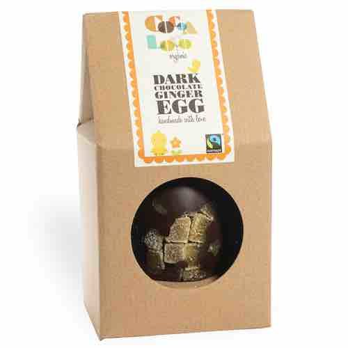 Cocoa Loco Crystalised Ginger Dark Chocolate Easter Egg
