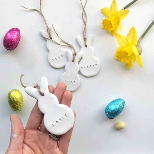 Holly Emily Designs' Personalised Rabbit Ornaments