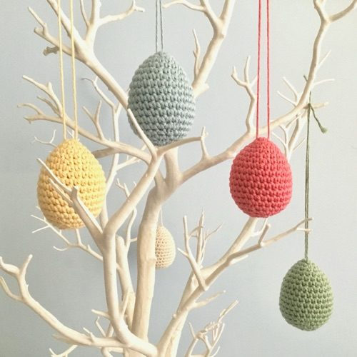 Little Conkers' Crocheted Easter Egg Ornaments