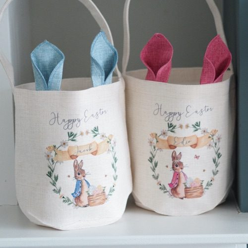 Loved by Jacob's Personalised Peter Rabbit Easter Basket
