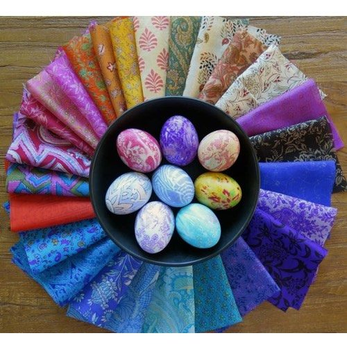 Ribbons and Silk's Silk Pieces Bundle for Egg Dyeing