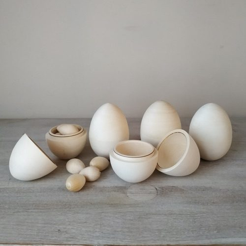 Rosto Toys' Hollow Wooden Eggs