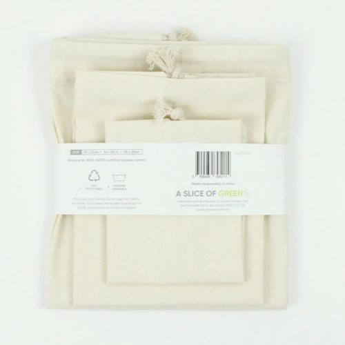 Organic Cotton Produce Bag –  Set of 3